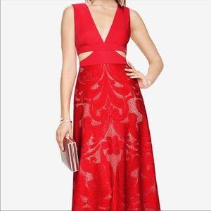 Red BCBG long dress